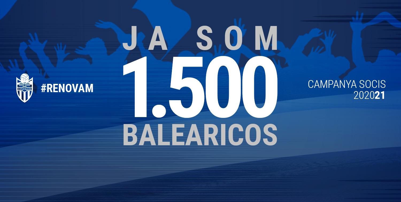 Ya somos 1.500 balearicos a la espera de contabilizar peñistas y familiares del fútbol base